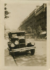 PHOTO ANCIENNE - VINTAGE SNAPSHOT - VOITURE TACOT AUTOMOBILE FLOU RUE - CAR
