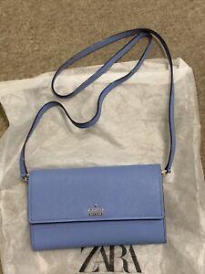 BNWT Genuine Kate Spade New York Blue Leather Small Evening Bag Cameron Street