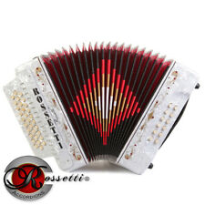 NEW Rossetti 3112 FBbEb FA 31 Button Diatonic Accordion - WHITE + Case + Straps