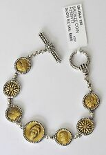 Konstantino 7 Greek Coin Toggle Bracelet Bronze Sterling Silver Kerma New