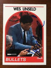 WES UNSELD 1989 NBA HOOPS AUTOGRAPHED SIGNED AUTO BASKETBALL CARD 53 HOF