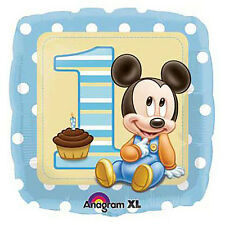 Mickey Mouse 1st Birthday Foil Balloon~Baby Shower Party Supplies Decoration