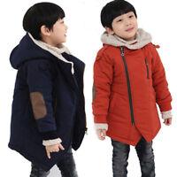 Children Boys' Hooded Jackets Fur Outerwear Warm Winter Ski Jacket Clothing yj