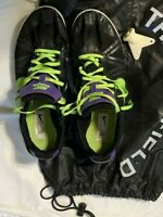 Nike Men's Black Running Spikes Size 10 includes Key