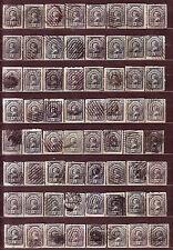 "1890 Newfoundland Canada ""Queen Victoria"" 3 ¢ USED 64 Stamps Fine!!"
