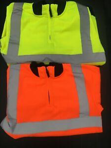 New Men High VIZ VIS HI VISIBILITY WorkQuarter Zip Jumper  Jacket FREE POSTAGE