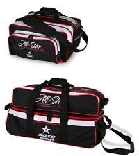 Roto Grip 3 Ball Tote Bowling Bag Tow Wheels Shoe Pocket & Matching 2 Ball Tote