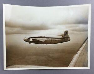 AIR FRANCE BREGUET BR.763 F-BASO PROVENCE ORIGINAL VINTAGE LARGE PHOTO DEUX PONT