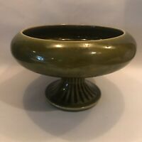 Floraline USA 430 Vintage Pottery By McCoy Green Vase / Planter / Potpourri