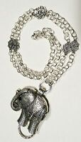 Sparkly  Elephant  Lanyard, Silver Chain Badge ID Holder, Breakaway Option