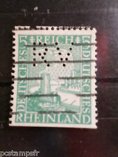ALLEMAGNE EMPIRE GERMANY 1925, timbre perforé 365, oblitéré, PERFIN STAMP
