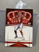 PATRICK MAHOMES ROOKIE 2017 PANINI CROWN ROYALE #84 FOOTBALL #253/299 Chiefs RC