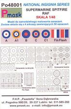 Model Maker 1/48 SUPERMARINE SPITFIRE INSIGNIA Roundels Fin Flashes Paint Masks