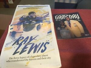 Ravens Baltimore Sun Paper Ray Lewis Hall of Fame Section and Game Day Program