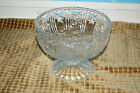 """Vintage Crystal Candy Decorative Bowl 8""""in diameter 6""""in high"""