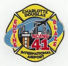 NC Charlotte Douglas International Airport Engine NCANG Blaze 41 Patch