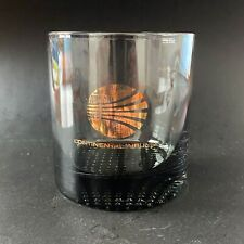 CONTINENTAL AIRINES Vintage 'Meatball' Logo 5 fl. oz. Smoke Glass Tumbler