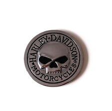 Autoaufkleber 3D Emblem Skull Totenkopf Sticker Harley 70 mm Ø Metall Medaillon
