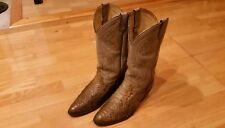 ACME Exotic Snake Skin and Leather Cowboy Boots Men Size 9D (wide)
