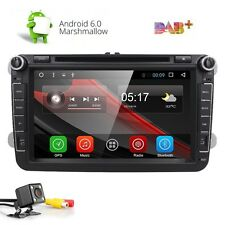 "GPS Navigation 8"" Android 6.0 Car Stereo CD DVD Player Radio WiFi USB for VW+CAM"