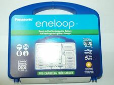 NEW PANASONIC ENELOOP POWER PACK CHARGER KIT AA AAA BATTERIES C D SPACER & CASE