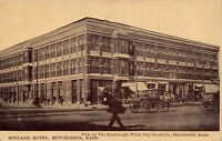 Hutchinson Kansas~Rorabaugh-Wiley Dry Goods Store (Publisher) Midland Hotel 1910