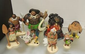 8 Pieces from Moana The Movie  Play Set Authentic Disney New No Box