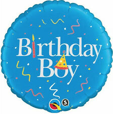 "BIRTHDAY BOY BALLOON 18"" HAPPY BIRTHDAY TO YOU! BLUE QUALATEX FOIL BALLOON"
