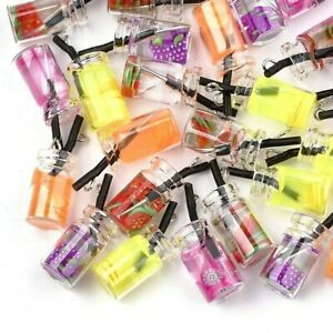 Cocktail Glass Bottle Pendant Charms Random Mix Pack of 10