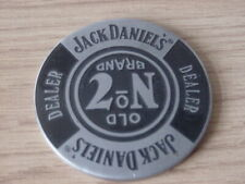 Rare and Collectable New Jack Daniels Metal Dealer Poker Chip