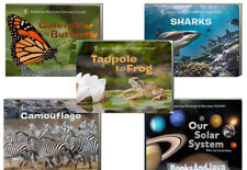 Life Cycles Caterpillar to Butterfly,Tadpole to Frog,Solar System+5 Board Books
