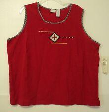NEW size 24W Koret TOP red sleeveless tank