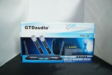 GTD Audio 2x100 Channel UHF Wireless Hand Held Microphone Mic System 622H - Used