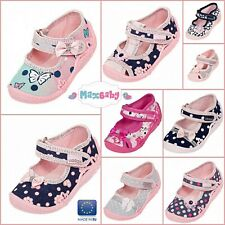 Girls Shoes Sandals Summer Kids Canvas Leather Insole Size 2-8 Toddler Infant