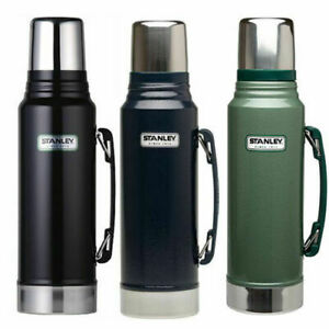 1.4L CLASSIC STANLEY FLASK DRINKS VACUUM BOTTLE LITRE BLACK BLUE GREEN THERMOS