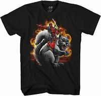 Marvel Deadpool Squirrel Wrangler Adult Tee Graphic T-Shirt for Men Tshirt