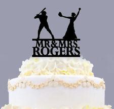 Personalized Mr And Mrs Baseball Couple Wedding Custom Cake Topper Decoration