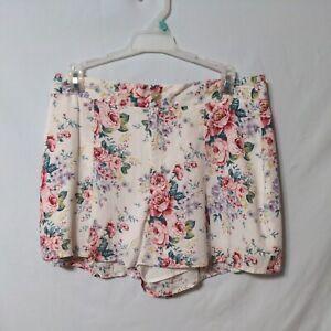 Forever 21 Lined Floral Shorts Large