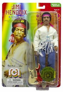 """New Mego Music Jimi Hendrix with Flocked Hair 8"""" Action Figure"""