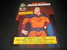 2003 MTV Movie Awards POSTCARD Flyer Memorabilia RARE COLLECTIBLE
