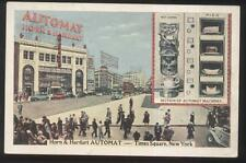 Postcard NEW YORK NY  Times Square Horn & Hardart Food Automat 1930's