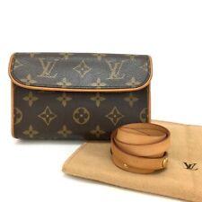 Authentic Louis Vuitton Monogram Pochette Florentine Pouch Bum Bag /e480