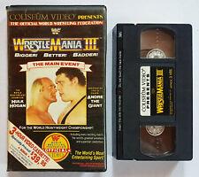 VINTAGE RARE 1987 WRESTLEMANIA III HULK HOGAN VS ANDRE THE GIANT VHS VIDEO TAPE