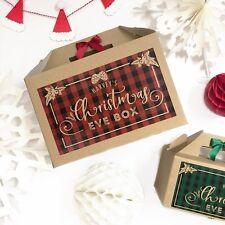 PERSONALISED CHRISTMAS EVE BOX   PLAID   XMAS FAVOUR PRESENT GIFT BAG
