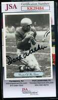 Doak Walker JSA Coa Autograph 1992 AW Sports Hand Signed