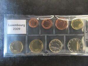 Série 1ct-2 Euro Luxembourg 2009 Neuve Sous Pochette
