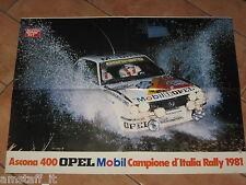 # POSTER ASCONA OPEL 400 RALLY CAMPIONE D'ITALIA 1981 MISURE CM.45X60