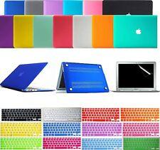 "Matte Hard Case Keyboard Skin Cover Screen Protector Film F MacBook Air 11"" 13"""