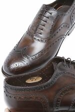 SANTONI *Limited Editions* Goodyear Welted Leather Wingtip Mens Shoes 9UK/10US