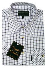 Country Classics Kids Childrens Long Sleeve Tattersal Check Shirt 6mths - 16yrs Blue Mls-01 13yrs